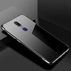 Oppo A9用極薄ソフトケース シリコンケース 耐衝撃 全面保護 クリア透明 H02 Oppo ブラック