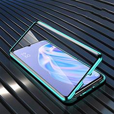 Oppo A91用ハイブリットバンパーケース クリア透明 プラスチック 鏡面 カバー M02 Oppo グリーン
