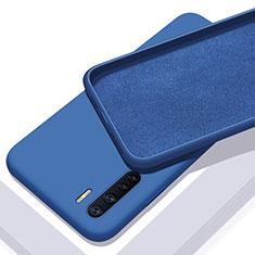 Oppo A91用360度 フルカバー極薄ソフトケース シリコンケース 耐衝撃 全面保護 バンパー S01 Oppo ネイビー