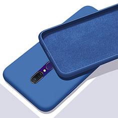 Oppo A9X用360度 フルカバー極薄ソフトケース シリコンケース 耐衝撃 全面保護 バンパー Oppo ネイビー