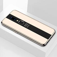 Oppo A9X用ハイブリットバンパーケース プラスチック 鏡面 カバー M01 Oppo ゴールド