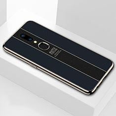 Oppo A9X用ハイブリットバンパーケース プラスチック 鏡面 カバー M01 Oppo ブラック