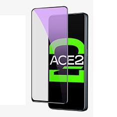Oppo Ace2用強化ガラス フル液晶保護フィルム アンチグレア ブルーライト Oppo ブラック