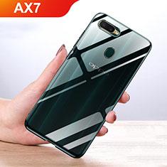 Oppo AX7用極薄ソフトケース シリコンケース 耐衝撃 全面保護 クリア透明 カバー Oppo クリア