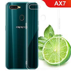Oppo AX7用極薄ソフトケース シリコンケース 耐衝撃 全面保護 クリア透明 T02 Oppo クリア
