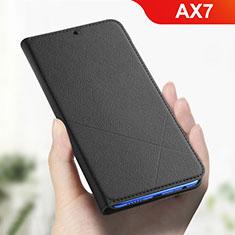 Oppo AX7用手帳型 レザーケース スタンド カバー L01 Oppo ブラック