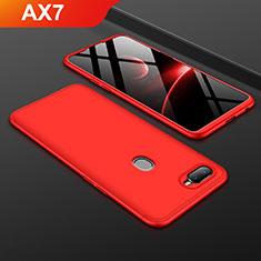 Oppo AX7用ハードケース プラスチック 質感もマット 前面と背面 360度 フルカバー Oppo レッド