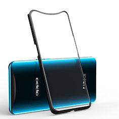 Oppo Find X用極薄ソフトケース シリコンケース 耐衝撃 全面保護 クリア透明 H01 Oppo ブラック