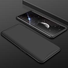 Oppo Find X用ハードケース プラスチック 質感もマット 前面と背面 360度 フルカバー Oppo ブラック