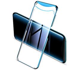 Oppo Find X用極薄ソフトケース シリコンケース 耐衝撃 全面保護 クリア透明 H03 Oppo ネイビー