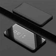 Oppo Find X用手帳型 レザーケース スタンド カバー 鏡面 カバー Oppo ブラック