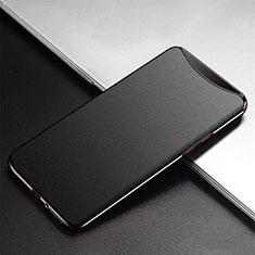 Oppo Find X Super Flash Edition用ハードケース プラスチック 質感もマット カバー P02 Oppo ブラック