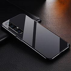 Oppo Find X2 Neo用ケース 高級感 手触り良い アルミメタル 製の金属製 カバー T04 Oppo ブラック