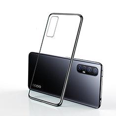 Oppo Find X2 Neo用極薄ソフトケース シリコンケース 耐衝撃 全面保護 クリア透明 H01 Oppo ブラック
