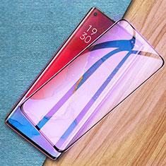 Oppo Find X2 Neo用強化ガラス フル液晶保護フィルム アンチグレア ブルーライト Oppo ブラック