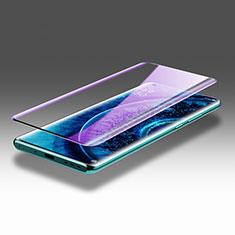 Oppo Find X2 Pro用強化ガラス フル液晶保護フィルム アンチグレア ブルーライト F02 Oppo ブラック