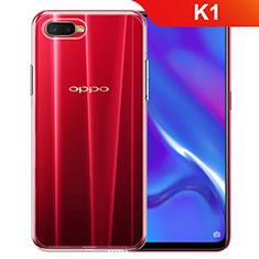 Oppo K1用極薄ソフトケース シリコンケース 耐衝撃 全面保護 クリア透明 カバー Oppo クリア
