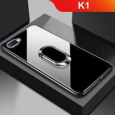 Oppo K1用ハイブリットバンパーケース プラスチック 鏡面 カバー M01 Oppo ブラック