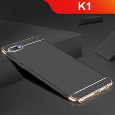 Oppo K1用ケース 高級感 手触り良い メタル兼シリコン バンパー M02 Oppo ブラック