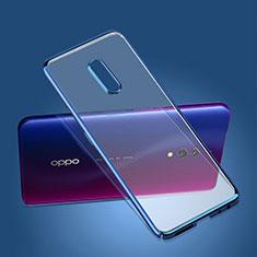 Oppo K3用極薄ケース プラスチック クリア透明 カバー Oppo ネイビー
