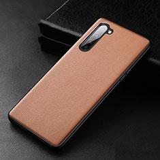 Oppo K7 5G用ケース 高級感 手触り良いレザー柄 S05 Oppo ブラウン