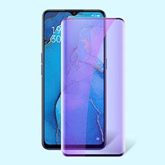 Oppo K7 5G用強化ガラス フル液晶保護フィルム アンチグレア ブルーライト F02 Oppo ブラック