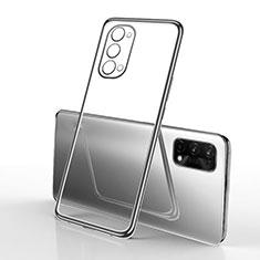 Oppo K7x 5G用極薄ソフトケース シリコンケース 耐衝撃 全面保護 クリア透明 H01 Oppo ブラック