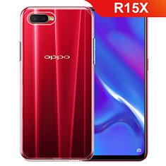 Oppo R15X用極薄ソフトケース シリコンケース 耐衝撃 全面保護 クリア透明 カバー Oppo クリア