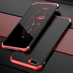 Oppo R15X用ケース 高級感 手触り良い メタル兼プラスチック バンパー M01 Oppo レッド・ブラック