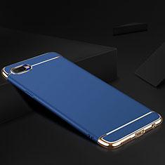 Oppo R15X用ケース 高級感 手触り良い メタル兼シリコン バンパー M02 Oppo ネイビー