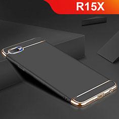 Oppo R15X用ケース 高級感 手触り良い メタル兼シリコン バンパー M02 Oppo ブラック