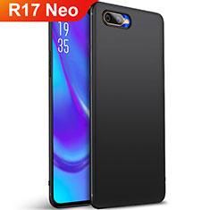 Oppo R17 Neo用極薄ソフトケース シリコンケース 耐衝撃 全面保護 S01 Oppo ブラック