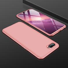 Oppo R17 Neo用ハードケース プラスチック 質感もマット 前面と背面 360度 フルカバー Oppo ローズゴールド