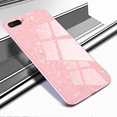 Oppo R17 Neo用ハイブリットバンパーケース プラスチック 鏡面 カバー Oppo ローズゴールド