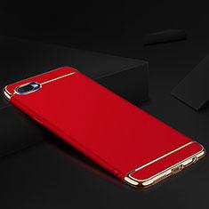 Oppo R17 Neo用ケース 高級感 手触り良い メタル兼シリコン バンパー M02 Oppo レッド