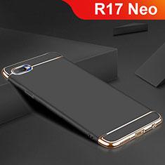 Oppo R17 Neo用ケース 高級感 手触り良い メタル兼シリコン バンパー M02 Oppo ブラック