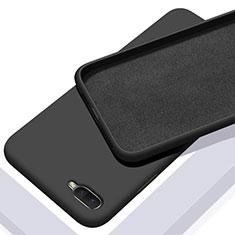 Oppo R17 Neo用360度 フルカバー極薄ソフトケース シリコンケース 耐衝撃 全面保護 バンパー C02 Oppo ブラック