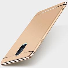 Oppo R17 Pro用ケース 高級感 手触り良い メタル兼プラスチック バンパー M01 Oppo ゴールド