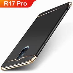 Oppo R17 Pro用ケース 高級感 手触り良い メタル兼プラスチック バンパー M01 Oppo ブラック