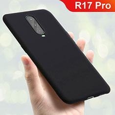 Oppo R17 Pro用極薄ソフトケース シリコンケース 耐衝撃 全面保護 S01 Oppo ブラック