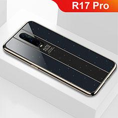 Oppo R17 Pro用ハイブリットバンパーケース プラスチック 鏡面 カバー Oppo ブラック