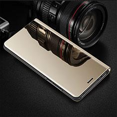 Oppo R17 Pro用手帳型 レザーケース スタンド カバー 鏡面 カバー Oppo ゴールド