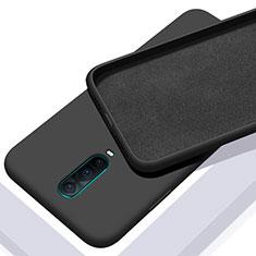 Oppo R17 Pro用360度 フルカバー極薄ソフトケース シリコンケース 耐衝撃 全面保護 バンパー C01 Oppo ブラック