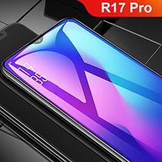 Oppo R17 Pro用強化ガラス フル液晶保護フィルム F02 Oppo ブラック