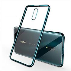Oppo Realme X用極薄ソフトケース シリコンケース 耐衝撃 全面保護 クリア透明 H02 Oppo グリーン