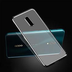 Oppo Realme X用極薄ケース プラスチック クリア透明 カバー Oppo ブラック