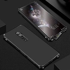 Oppo Reno 10X Zoom用ケース 高級感 手触り良い アルミメタル 製の金属製 カバー Oppo ブラック