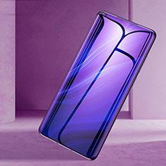 Oppo Reno 10X Zoom用強化ガラス フル液晶保護フィルム アンチグレア ブルーライト Oppo ブラック