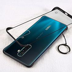 Oppo Reno Ace用ハードカバー クリスタル クリア透明 H01 Oppo ブラック