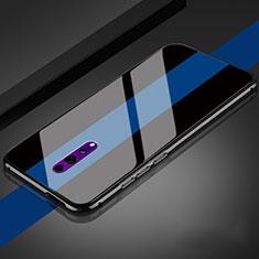 Oppo Reno Z用ハイブリットバンパーケース プラスチック 鏡面 カバー Oppo ブラック